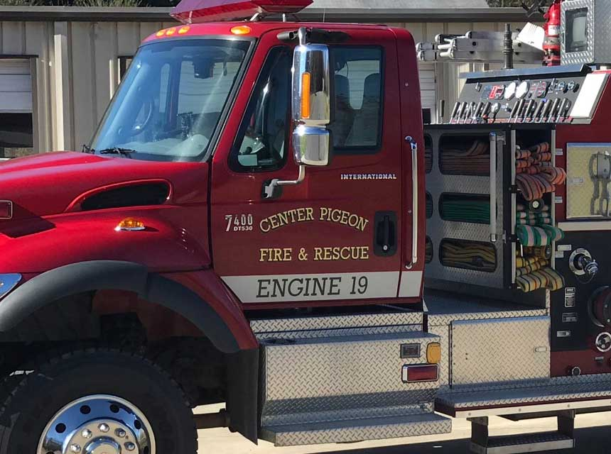 Center Pigeon Fire & Rescue rig