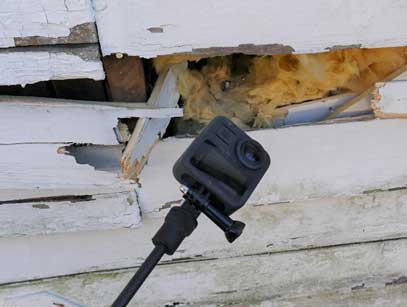 Another use of a small camera in collapse rescue.
