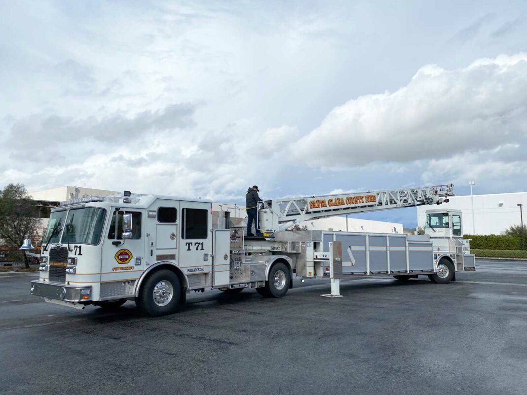 KME AerialCat delivery to Santa Clara County Fire Department