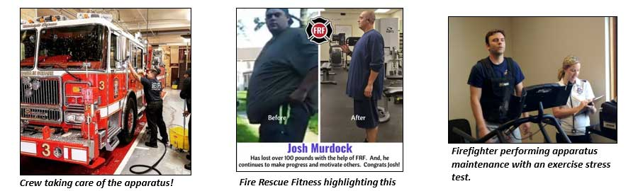 Maintaining fire trucks and your personal fitness