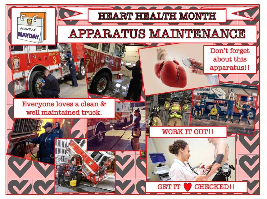 Heart health and apparatus maintenance