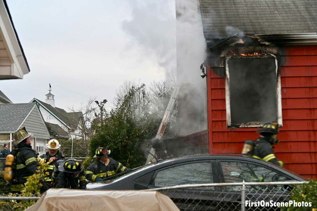 Firefighters at Floral Park house fire
