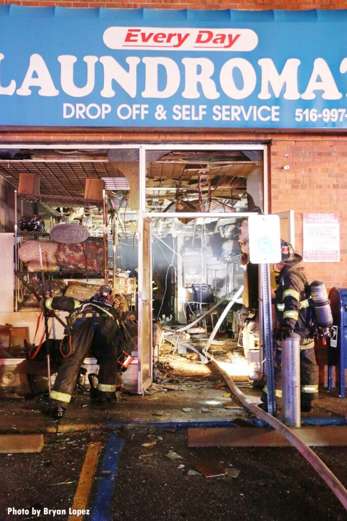 Damage after Long Island commercial fire