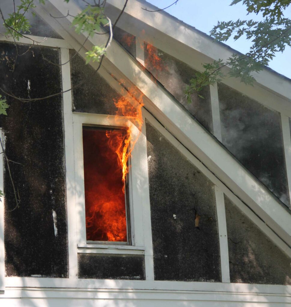 Fire venting from a window