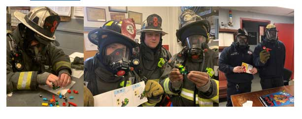 Firefighters train on January Mayday Monday skill