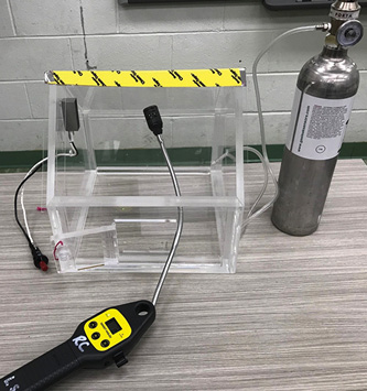 A plexiglass home model and a container of natural gas can provide an excellent tabletop training aid that will show your meters' strengths and weaknesses.