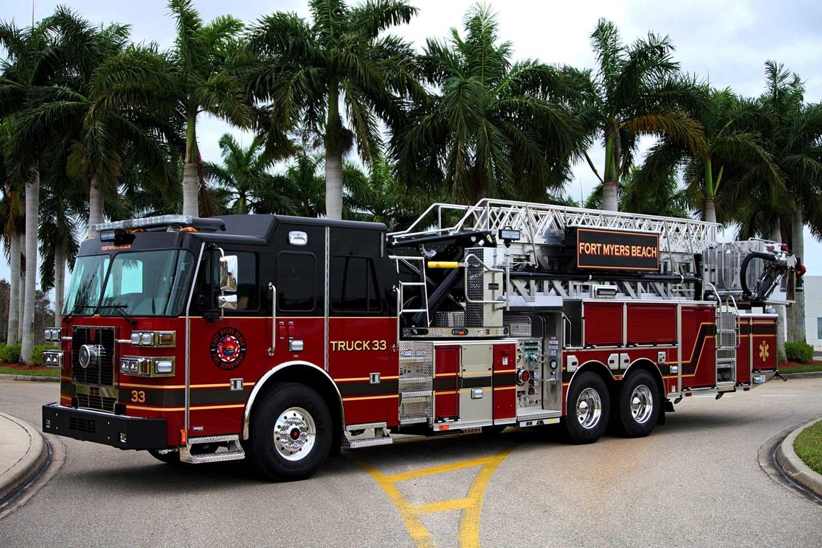 Fort Myers Beach FL fire apparatus