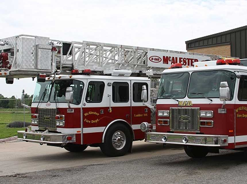 McAlester OK Fire Department rigs