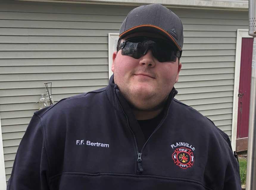 Plainville Firefighter Brett Bertram