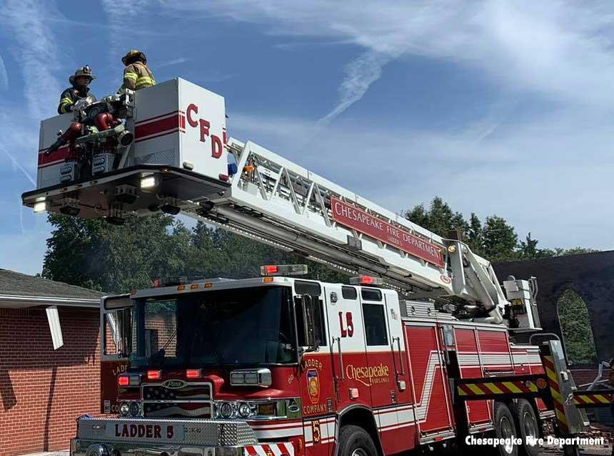 Chesapeake VA Fire Department Tower Ladder