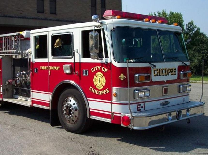 Chicopee MA fire truck