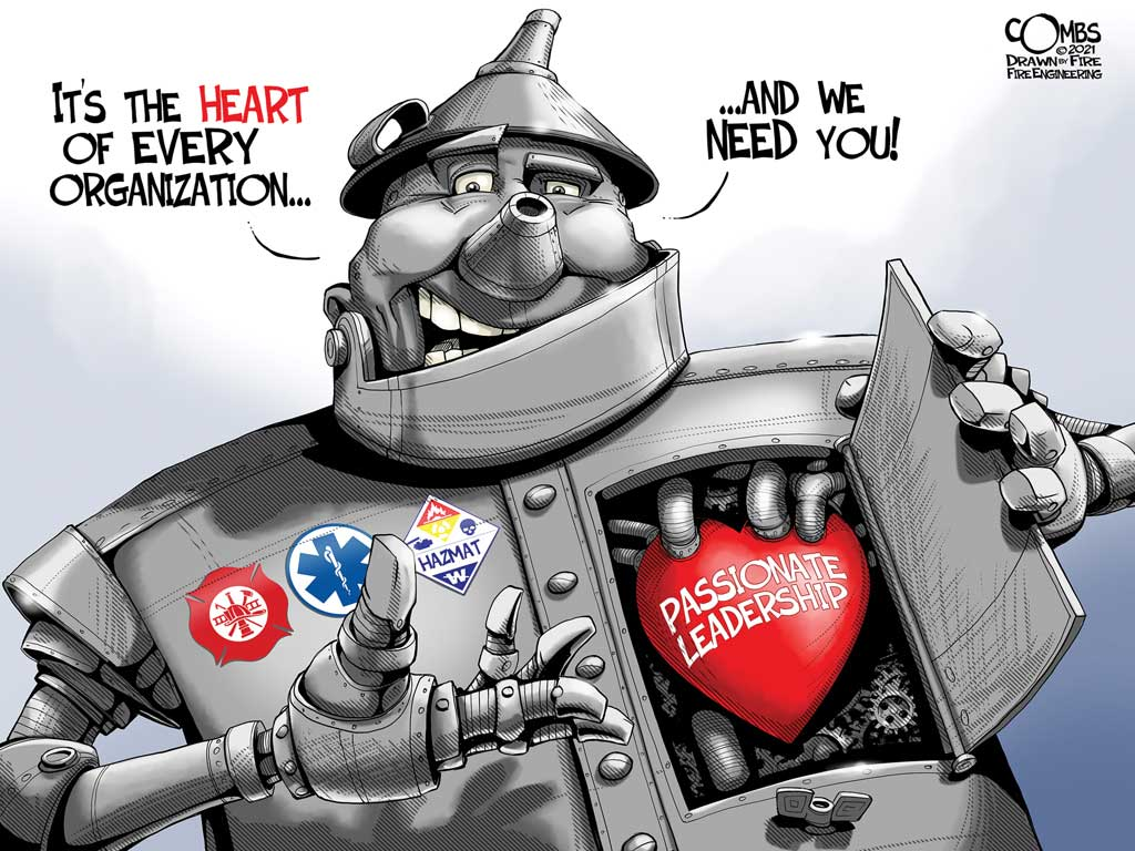 Tin man with heart for the fire service
