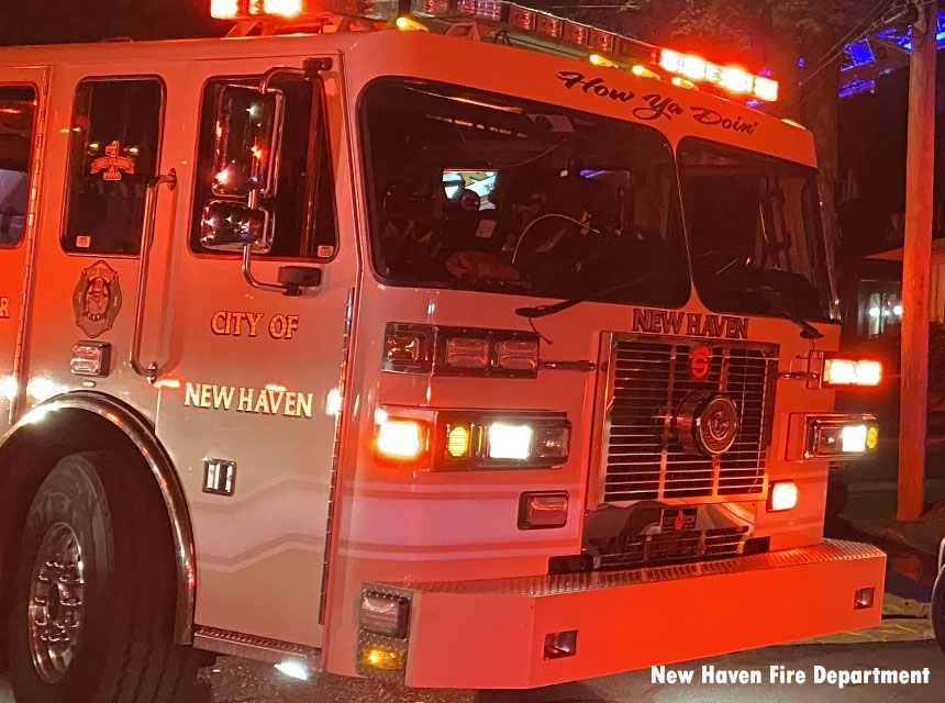 New Haven CT fire truck