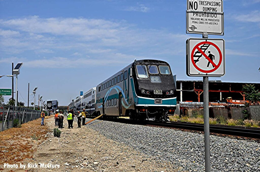 The scene of a railway incident in Los Angeles, California