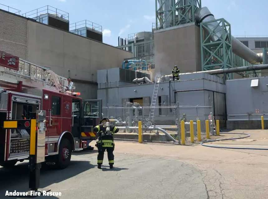 Andover Fire Rescue responded to a generator fire at Pfizer's facility