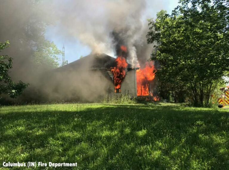 Columbus (IN) Firefighters Rescue Woman From Burning Home