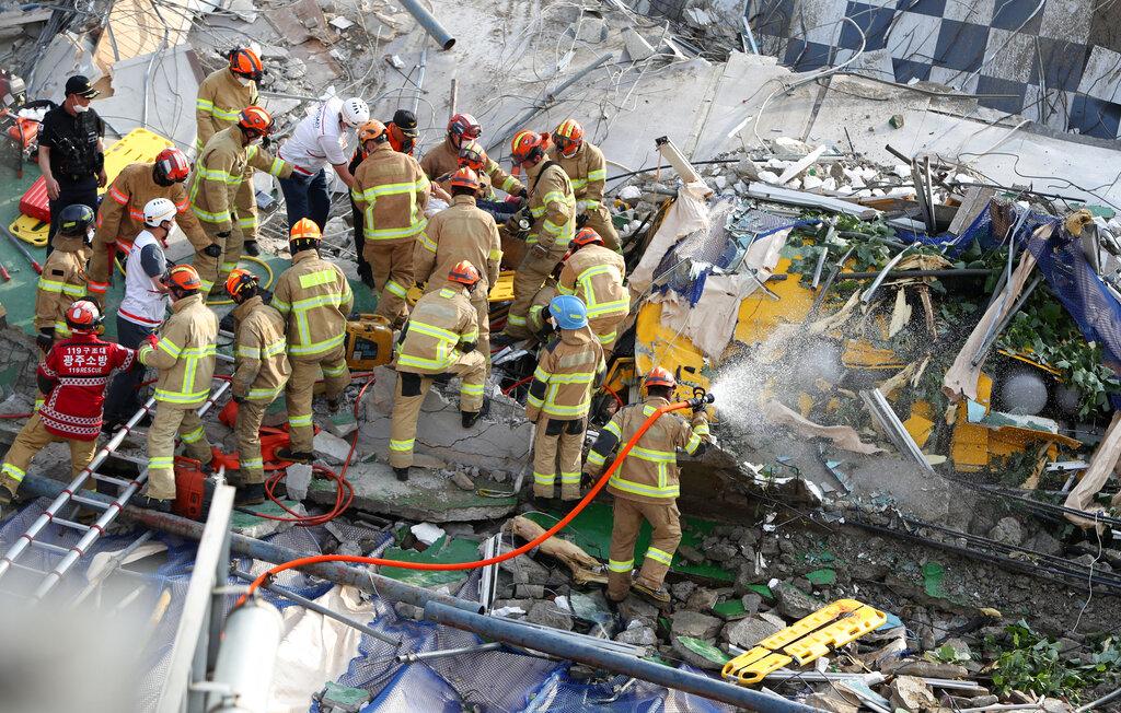 South Korea building collapse