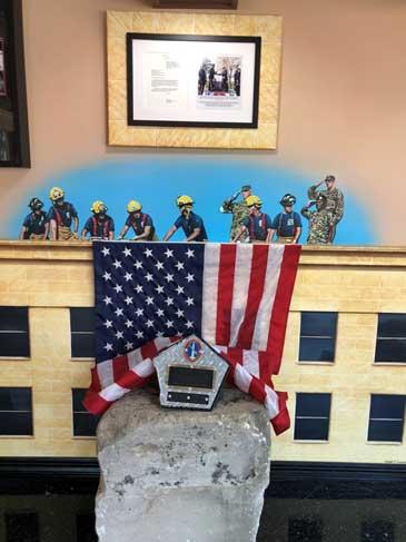 Pentagon memorial at The Rock, FDNY, NYC