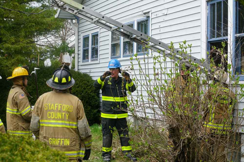 Mike Ciampo instructs firefighters during a hands-on training evolution at FDIC International 2019